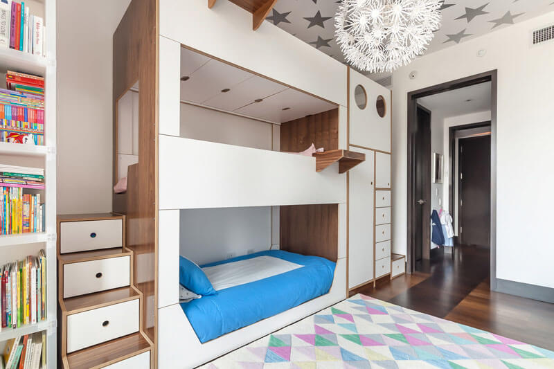 This Triple Bunk Bed Was Designed With Storage And Stairs-3