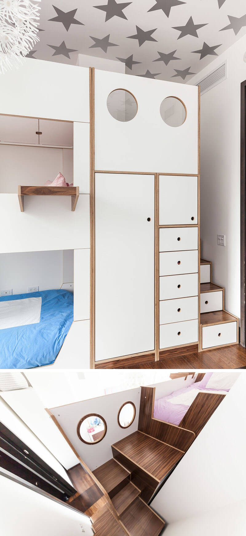 This Triple Bunk Bed Was Designed With Storage And Stairs-4